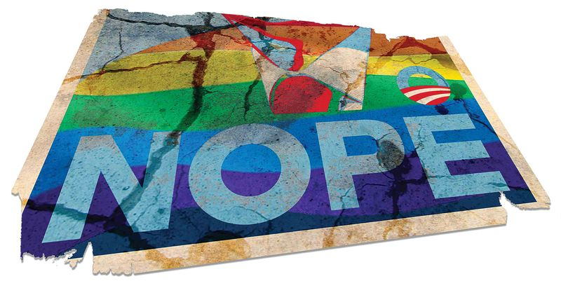 Illustration Nope Poster by Greg Groesch for The Washington Times