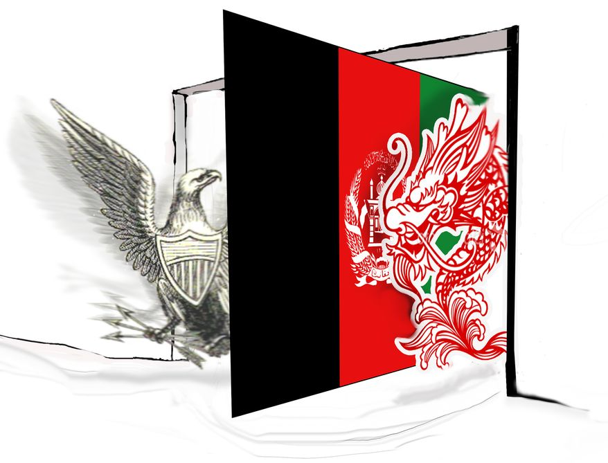 Illustration China in Afghanistan by John Camejo for The Washington Times