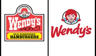 Wendy's has updated its logo in an effort to signal its ongoing transformation into a higher-end hamburger chain. (AP Photo/Wendy's)