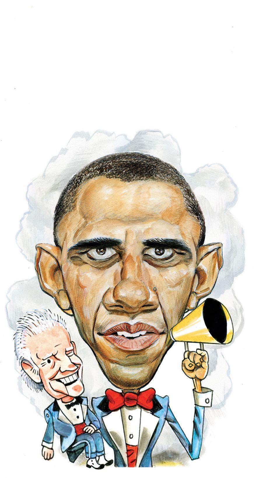 Illustration Debate by Alexander Hunter for The Washington Times