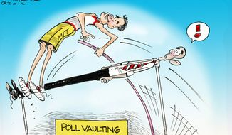 Poll Vaulting (Illustration by Dana Summers for the Orlando Sentinel)