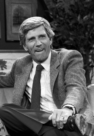 Actor and TV host Gary Collins is pictured in 1982. (AP Photo)