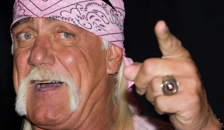 Hulk Hogan attends a news conference to announce his return to wrestling with TNA Wrestling held at Madison Square Garden in New York on Oct. 27, 2009. (Associated Press)
