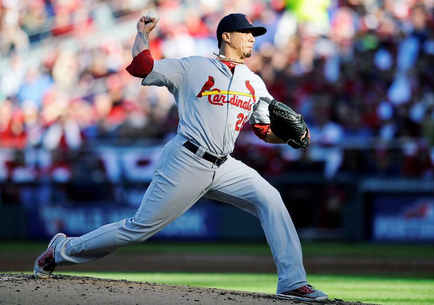 St. Louis right-hander Kyle Lohse needed just 87 pitches to complete seven innings against Washington on Thursday. (Associated Press)