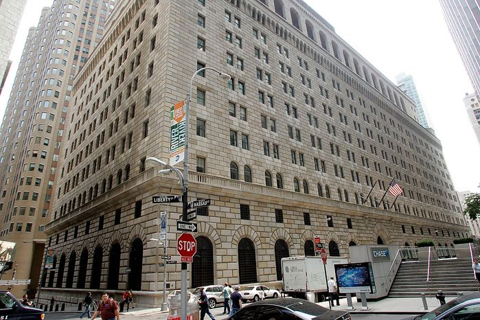 **FILE** The building of the Federal Reserve Bank in downtown Manhattan is seen here on Aug. 17, 2007. (Associated Press)