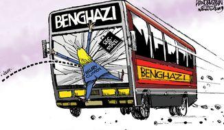Benghazi / Hillary Clinton (Illustration by Walt Handelsman of Newsday)