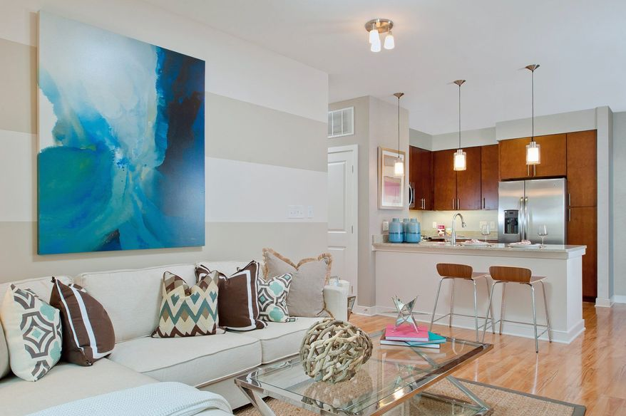 The homes at the Orion feature open living and dining rooms.