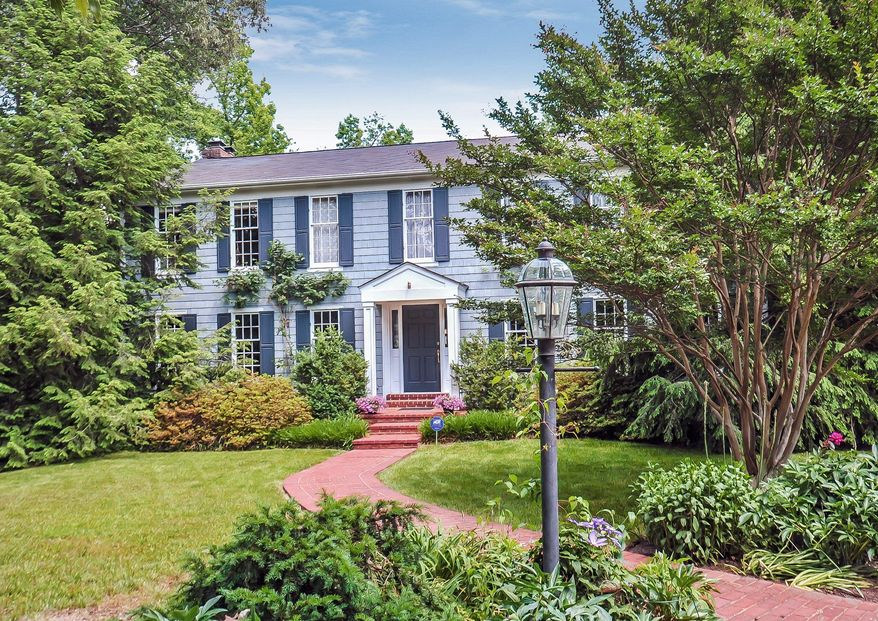 The home at 900 Clifton Drive in Alexandria is on the market for $1,497,000. The five-bedroom home, built in 1976, was built on land that George Washington once owned.