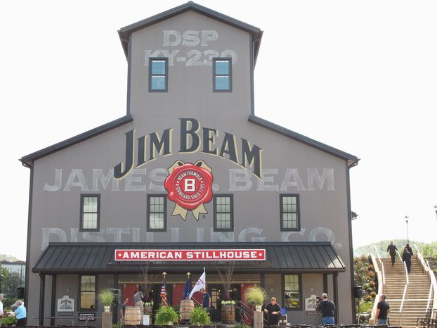 The new Jim Beam American Stillhouse visitors center is a replica of a 1930s stillhouse. (Associated Press)