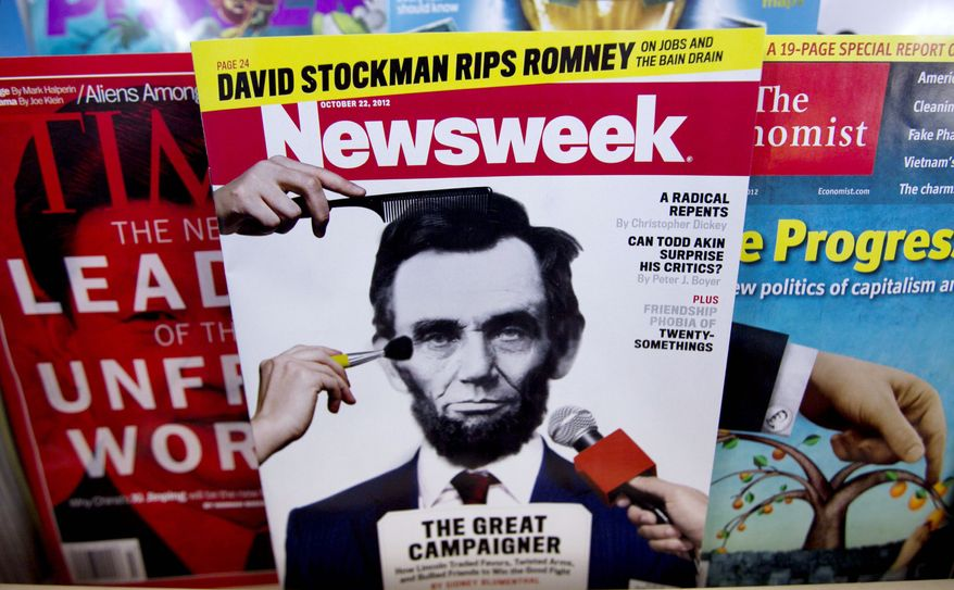 Newsweek magazine, on sale Thursday at a newsstand, will switch to digital-only operations after publication of its Dec. 31 issue. The move, after 80 years, recognizes the changing preferences of news consumers away from print formats. (The Associated Press)