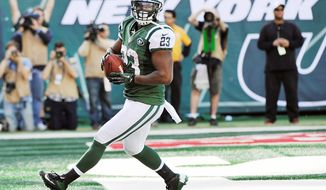 Jets running back Shonn Greene, considered a fantasy football underachiever, broke out with a 161-yard, three-touchdown game last Sunday. (Associated Press)