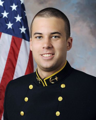 Pablo Beltran is the punter for The Naval Academy. (Navy Athletics)