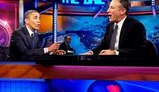 President Obama appears on The Daily Show October 18, 2012