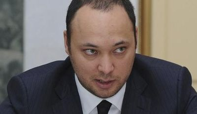 **FILE** Maksim Bakiyev, son of deposed Kyrgyz president Kurmanbek Bakiyev, is seen here Nov. 6, 2009, in the Kyrgyz capital of Bishkek. (Associated Press)