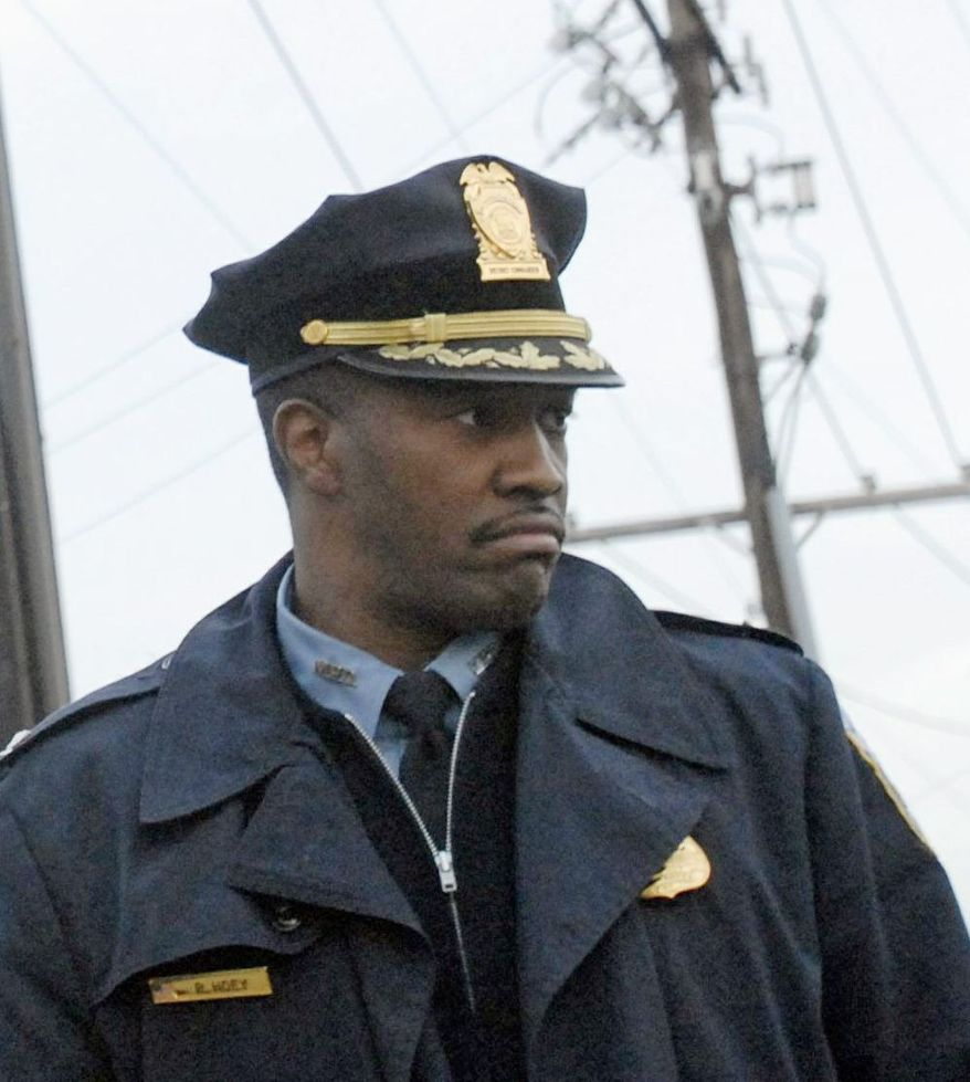 D.C. police Capt. Robin Hoey, seen here in late 2006 when he was 6th District commander prior to a demotion, will now helm the realigned 7th District. (The Washington Times)