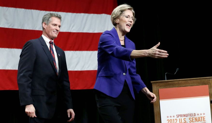 Challenger Elizabeth Warren and incumbent Sen. Scott Brown promised to donate to charity if any outside groups advertised on their behalf. Direct mail, phone banks and canvassing efforts are allowed. (Associated Press)