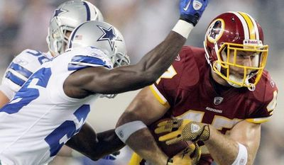 Redskins tight end Chris Cooley is unsure what his role will be alongside Logan Paulson and Niles Paul, but he's excited to get back on the field. (Associated Press)
