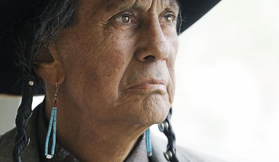 Russell Means, former leader of the American Indian Movement, died Monday in Porcupine, S.D. He was 72. (Sioux Falls, S.D., Argus Leader via Associated Press)