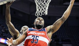 Power forward Trevor Booker has provided an offensive spark for the injury-riddled Wizards in the past two preseason games. Booker, with his own injury history, hopes to avoid becoming one of the team's walking wounded. (Associated Press)