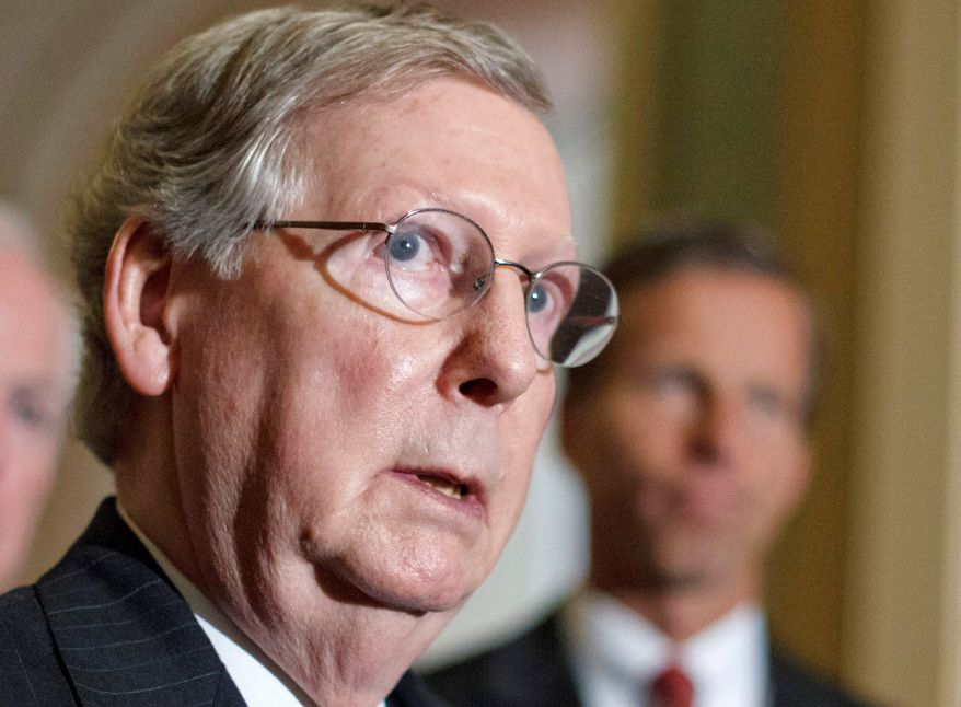 Republican Senate Minority Leader Mitch McConnell of Kentucky is on the campaign trail tending to important races in his home state.