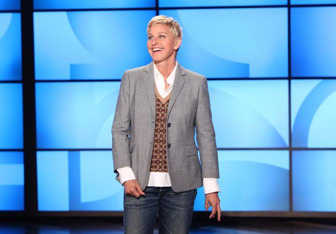 "Ellen DeGeneres, here taping her daytime program, ""The Ellen DeGeneres Show,"" in Burbank, Calif., in 2011, will receive the Kennedy Center's Mark Twain Prize for American Humor. (AP Photo/Warner Bros., Michael Rozman, File)"