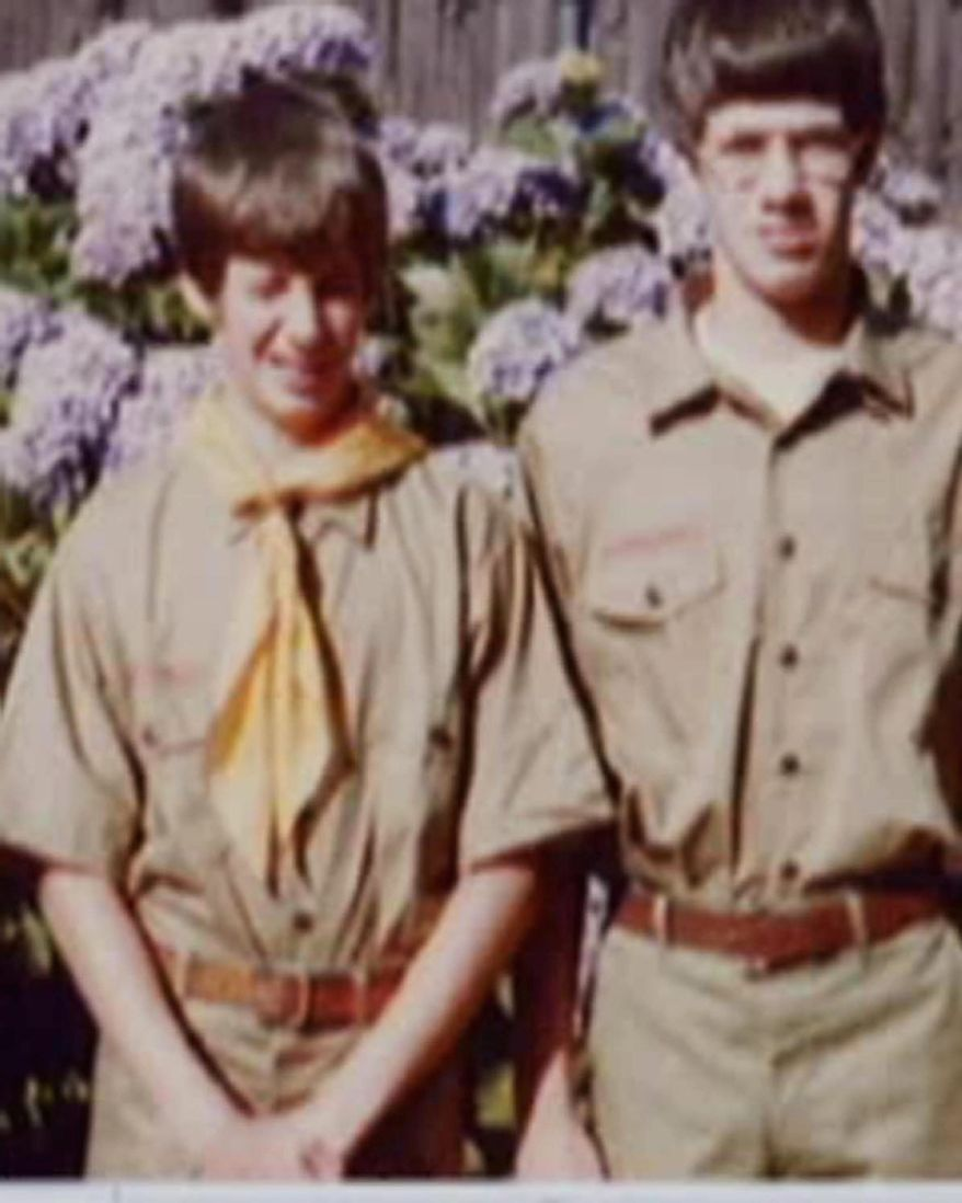 This family photo provided by Tom Stewart shows him (right) and his younger brother, Matt, in their scout uniforms. The brothers settled out of court after suing the Boy Scouts in 2003 for abuse they had suffered at the hands of one of their Scoutmasters. (Associated Press/Courtesy Tom Stewart)