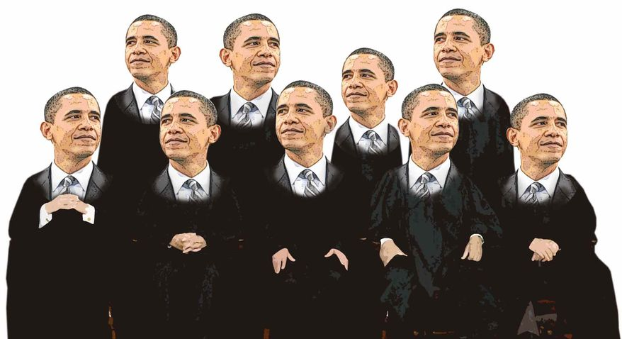 Illustration Obama's Court by Greg Groesch for The Washington Times