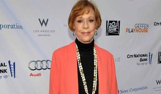 """Carol Burnett arrives at the """"Backstage at the Geffen"""" fundraiser at the Geffen Playhouse in Los Angeles on Monday, June 4, 2012. (AP Photo/Geffen Playhouse, John Shearer)"""