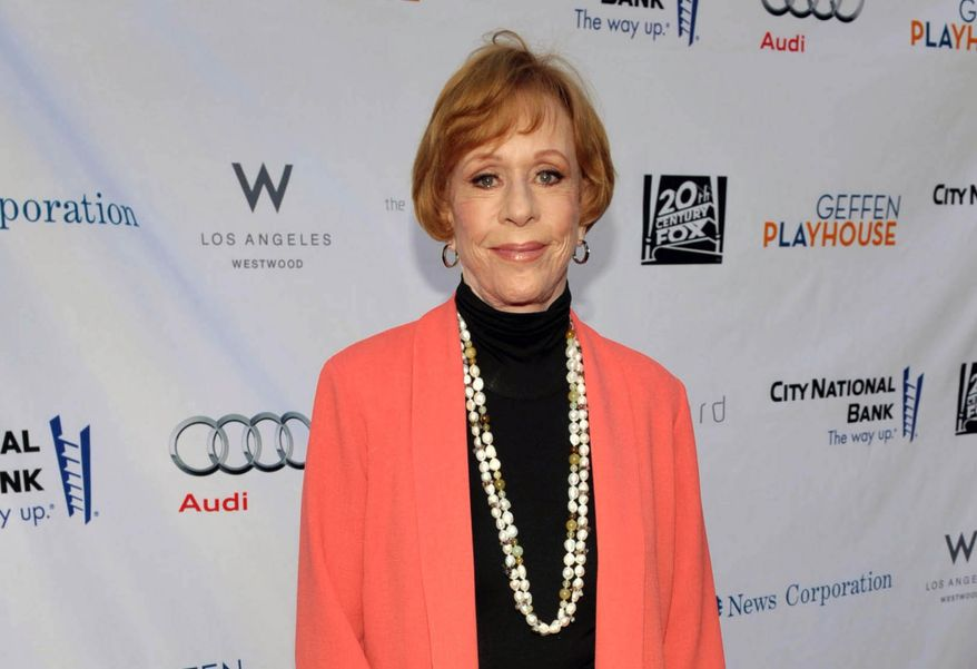 "Carol Burnett arrives at the ""Backstage at the Geffen"" fundraiser at the Geffen Playhouse in Los Angeles on Monday, June 4, 2012. (AP Photo/Geffen Playhouse, John Shearer)"