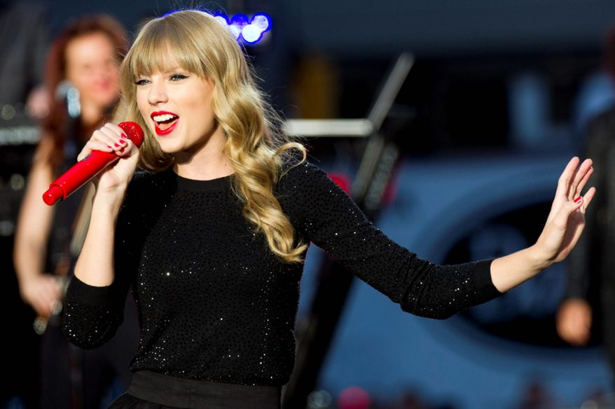 "Taylor Swift performs on ABC's ""Good Morning America"" on Oct. 23, 2012 in New York. (Charles Sykes/Invision/Associated Press)"