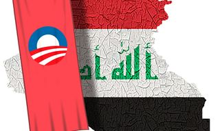 Illustration Obama's Iraq by Alexander Hunter for The Washington Times