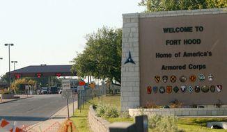 ** FILE ** Fort Hood, near Killeen, Texas. (AP Photo/Jack Plunkett)
