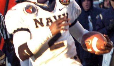 Lamar Owens was the last quarterback to play the entire season for Navy. (The Washington Times/Joseph Silverman).