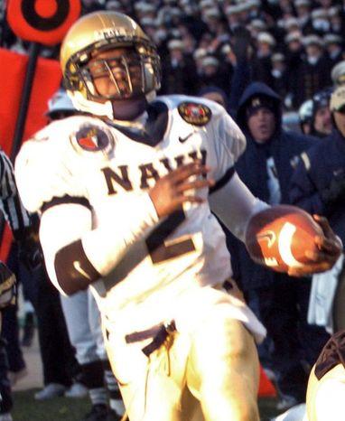 Lamar Owens was the last quarterback to play the entire season for Navy. (The Washington Times/Joseph Silverman).