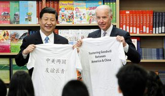 Chinese Vice President Xi Jinping and his U.S. counterpart, Vice President Joseph R. Biden, display T-shirts given to them by students at the International Studies Learning Center in South Gate, Calif., on Feb. 17. Mr. Xi is expected to take over as head of the ruling Communist Party in November, before becoming president in 2013. Below are the dusty remnants of an abandoned cave dwelling where Mr. Xi lived during part of his youth, when he was sent to learn Mao-era peasant virtues. (The Associated Press)