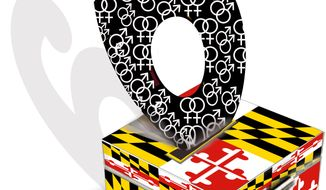 Illustration Maryland Question 6 by John Camejo for The Washington Times