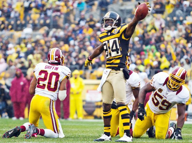 Steelers leading receiver may miss Monday night's game versus the Kansas City Chiefs because of a strained right ankle.  (Craig Bisacre/The Washington Times)