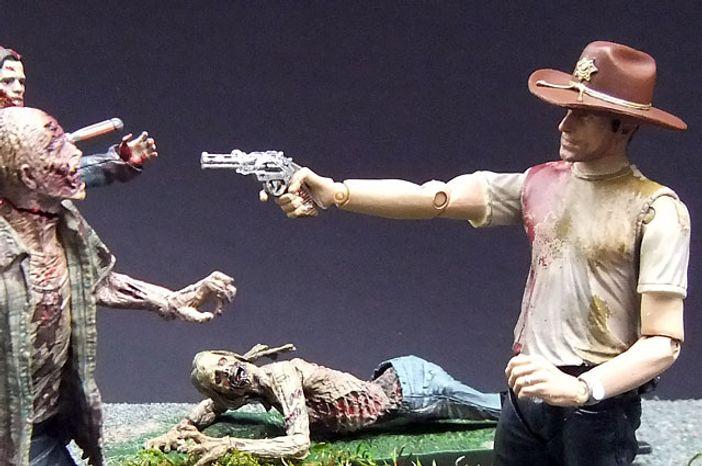 McFarlane Toys' Deputy Rick Grimes fights back against The Walking Dead. (Photograph by Joseph Szadkowski / The Washington Times)