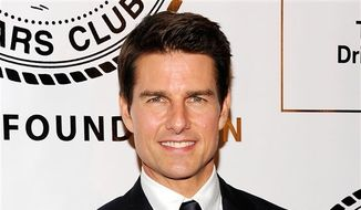 ** FILE ** This June 12, 2012, file photo shows actor Tom Cruise at The Friars Club and Friars Foundation at The Waldorf-Astoria in New York. (Photo by Evan Agostini/Invision/AP, file)
