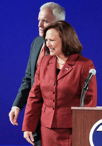 Democrat Bob Kerrey and Republican Deb Fischer are battling for a U.S. Senate seat in Nebraska. The Fischer camp is disputing poll figures indicating that Mr. Kerrey has significantly closed the gap between them. The race had been considered a lock for Republicans eager to regain control the Senate. (Associated Press)