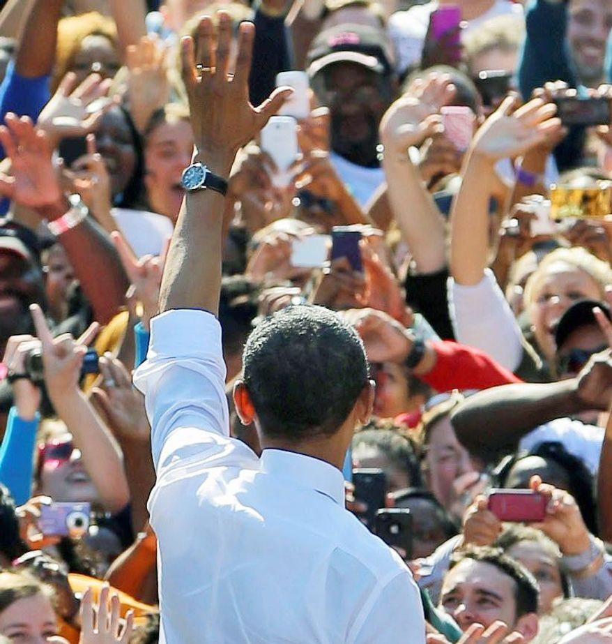 President Obama has been campaigning often in Virginia. Some of the 2008 Obama magic is gone, and some down-ballot Democrats are keeping their distance. (Associated Press)