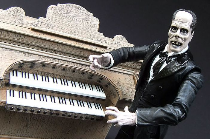 Diamond Select Toys's The Phantom of the Opera figure includes an organ. (Photograph by Joseph Szadkowski / The Washington Times)
