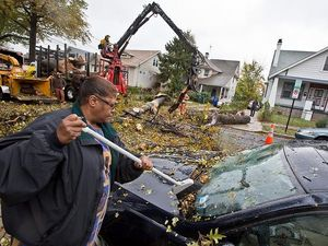 D.C. area largely spared Sandy's full force