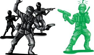 Illustration Army Men by Linas Garsys for The Washington Times