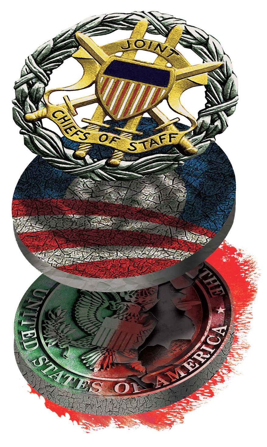 Illustration Obama Embassy by Alexander Hunter for The Washington Times