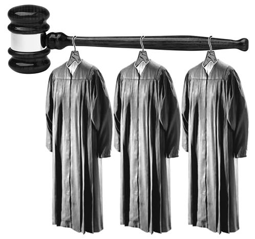 Illustration Judicial Stakes by John Camejo for The Washington Times