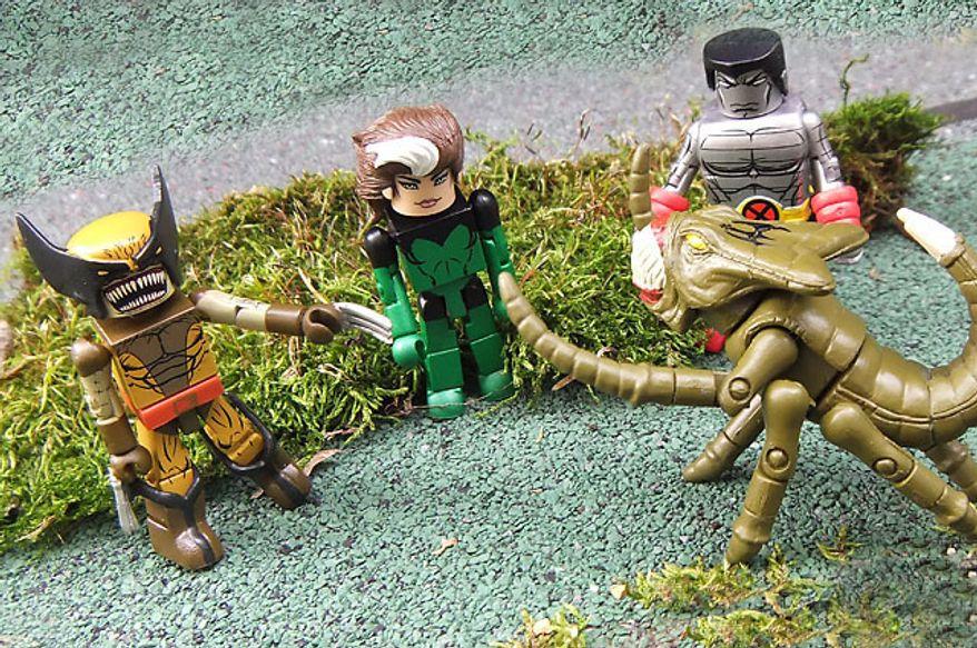 Diamond Select Toys' latest Marvel Minimates star the X-Men vs. the Brood. (Photograph by Joseph Szadkowski / The Washington Times)