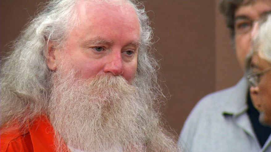 Convicted killer Donald Moeller makes a court appearance in Sioux Falls, S.D., on Wednesday, July 18, 2012. (AP Photo/KELO-TV)