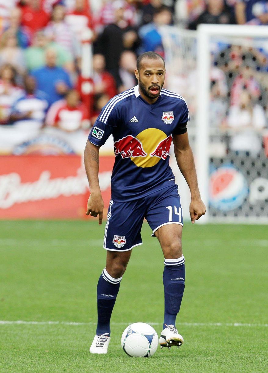 United will have to contend with New York forward Thierry Henry, who has a World Cup championship and a UEFA Champions League title to his resume. (Associated Press)