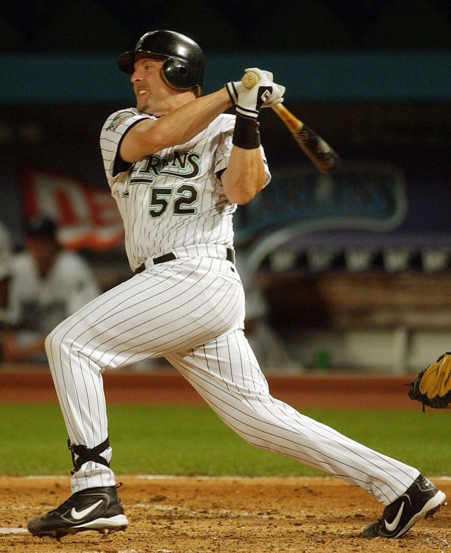 Florida Marlins hired former catcher Mike Redmond as their new manager. (AP Photo/Alan Diaz)
